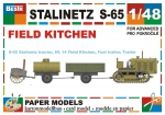 Stalinets-65 with field kitchen